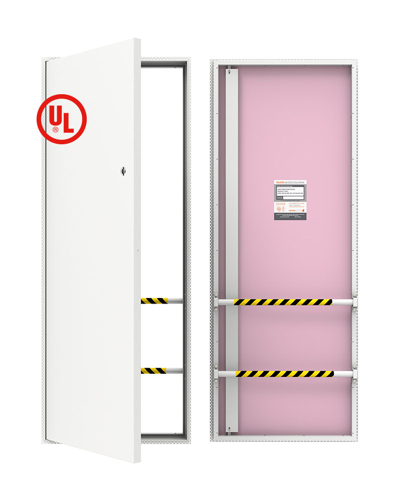 INTEGRA 4000 Series UL Certified riser doors for access to services concealed within the riser shaft of the building